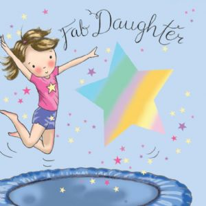 TW645 - Daughter Birthday Card Trampoline